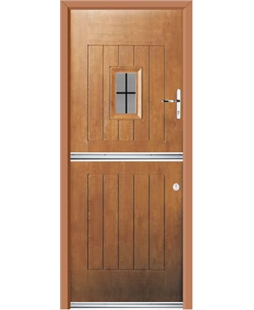 Ultimate Stable Spy Rockdoor in Light Oak with Square Lead