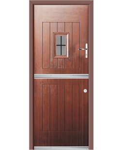 Ultimate Stable Spy Rockdoor in Mahogany with Square Lead