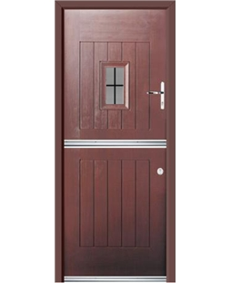 Ultimate Stable Spy Rockdoor in Rosewood with Square Lead