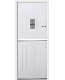 Ultimate Stable Spy Rockdoor in White with Square Lead