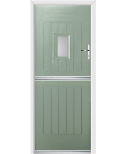 Ultimate Stable Spy Rockdoor in Chartwell Green with Glazing
