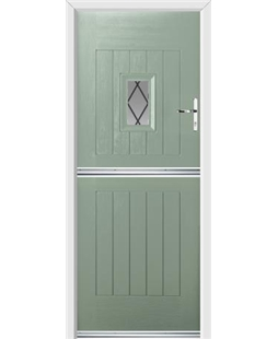 Ultimate Stable Spy Rockdoor in Chartwell Green with Diamond Lead