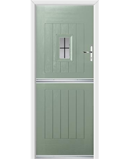 Ultimate Stable Spy Rockdoor in Chartwell Green with Square Lead