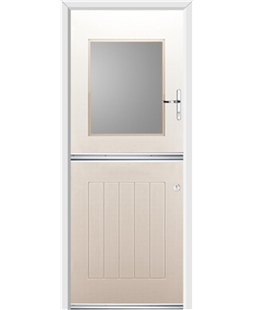 Ultimate Stable View Rockdoor in Cream with Glazing