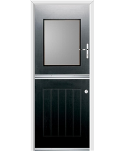 Ultimate Stable View Rockdoor in Onyx Black with Glazing
