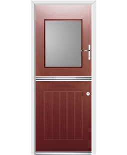 Ultimate Stable View Rockdoor in Ruby Red with Glazing