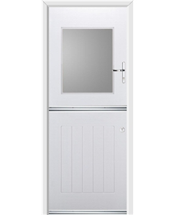 Ultimate Stable View Rockdoor in White with Glazing