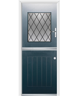 Ultimate Stable View Rockdoor in Anthracite Grey with Diamond Lead