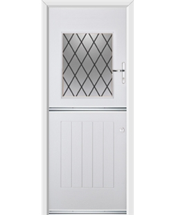 Ultimate Stable View Rockdoor in Blue White with Diamond Lead