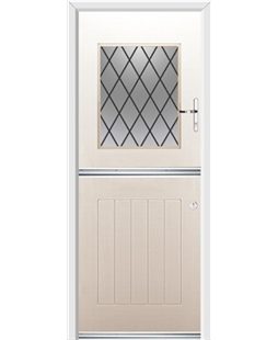 Ultimate Stable View Rockdoor in Cream with Diamond Lead