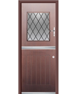 Ultimate Stable View Rockdoor in Rosewood with Diamond Lead