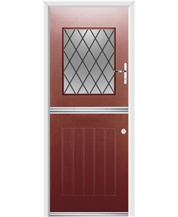 Ultimate Stable View Rockdoor in Ruby Red with Diamond Lead