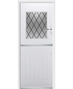 Ultimate Stable View Rockdoor in White with Diamond Lead