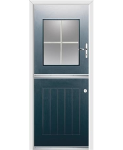 Ultimate Stable View Rockdoor in Anthracite Grey with White Georgian Bar