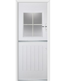 Ultimate Stable View Rockdoor in Blue White with White Georgian Bar