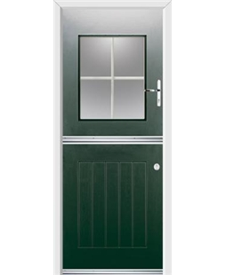 Ultimate Stable View Rockdoor in Emerald Green with White Georgian Bar