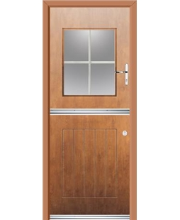 Ultimate Stable View Rockdoor in Light Oak with White Georgian Bar