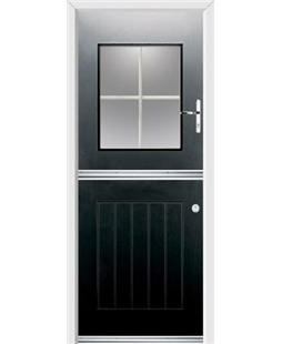 Ultimate Stable View Rockdoor in Onyx Black with White Georgian Bar