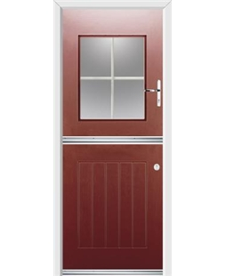 Ultimate Stable View Rockdoor in Ruby Red with White Georgian Bar