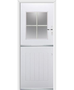 Ultimate Stable View Rockdoor in White with White Georgian Bar