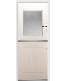 Ultimate Stable View Rockdoor in Cream with Gluechip Glazing