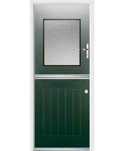 Ultimate Stable View Rockdoor in Emerald Green with Gluechip Glaze