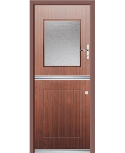 Ultimate Stable View Rockdoor in Mahogany with Gluechip Glaze