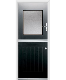 Ultimate Stable View Rockdoor in Onyx Black with Gluechip Glazing