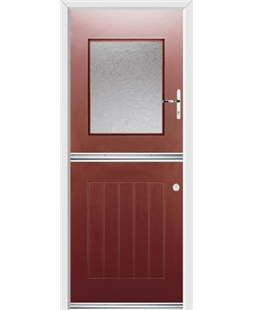 Ultimate Stable View Rockdoor in Ruby Red with Gluechip Glazing