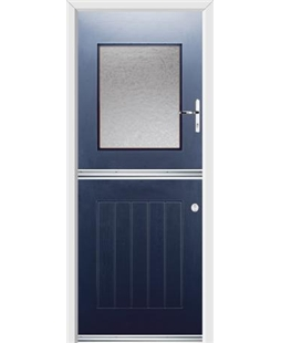 Ultimate Stable View Rockdoor in Sapphire Blue with Gluechip Glazing
