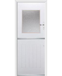 Ultimate Stable View Rockdoor in White with Gluechip Glazing