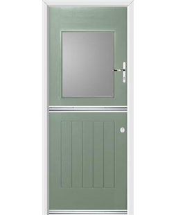 Ultimate Stable View Rockdoor in Chartwell Green with Glazing