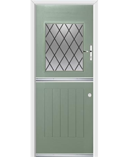 Ultimate Stable View Rockdoor in Chartwell Green with Diamond Lead