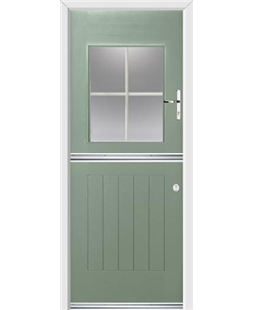 Ultimate Stable View Rockdoor in Chartwell Green with White Georgian Bar