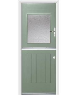 Ultimate Stable View Rockdoor in Chartwell Green with Gluechip Glazing