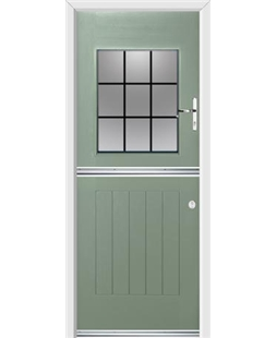 Ultimate Stable View Rockdoor in Chartwell Green with Square Lead