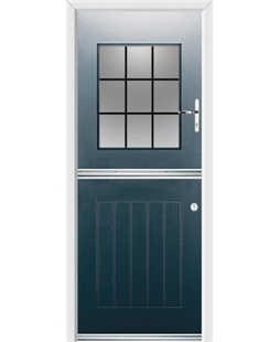 Ultimate Stable View Rockdoor in Anthracite Grey with Square Lead