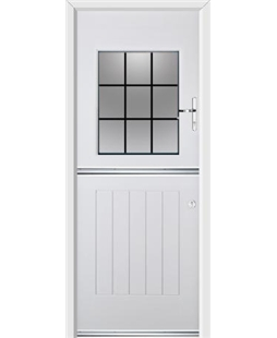 Ultimate Stable View Rockdoor in Blue White with Square Lead