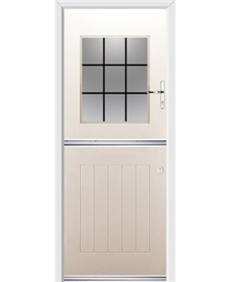 Ultimate Stable View Rockdoor in Cream with Square Lead