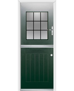 Ultimate Stable View Rockdoor in Emerald Green with Square Lead