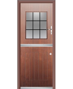 Ultimate Stable View Rockdoor in Mahogany with Square Lead