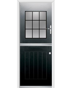 Ultimate Stable View Rockdoor in Onyx Black with Square Lead
