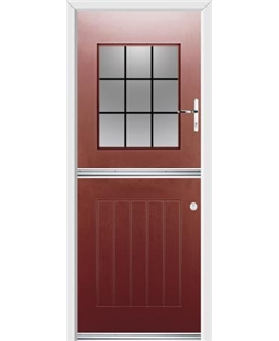Ultimate Stable View Rockdoor in Ruby Red with Square Lead