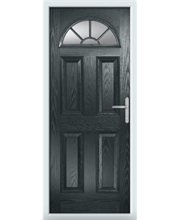 The Jamestown Composite Door in Grey (Anthracite) with Clear Glazing