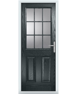 The Kettering Composite Door in Grey (Anthracite) with Clear Glazing