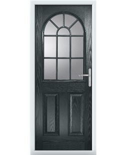 The Leeds Composite Door in Grey (Anthracite) with Clear Glazing