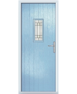 The Taunton Composite Door in Blue (Duck Egg) with Tate