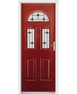 Ultimate Tennessee Rockdoor in Ruby Red with Black Diamonds