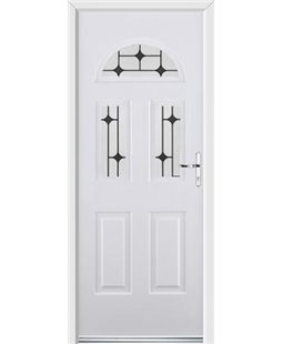 Ultimate Tennessee Rockdoor in White with Black Diamonds