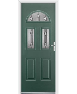 Ultimate Tennessee Rockdoor in Emerald Green with Dorado Glazing